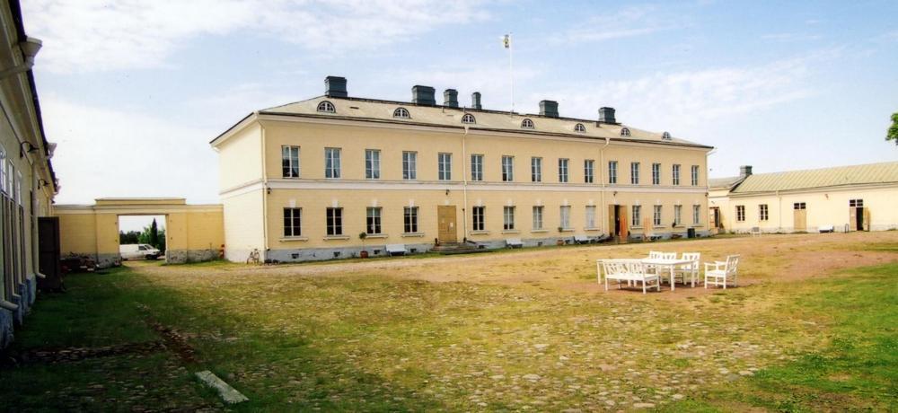 Eckerö Post- och tullhus innegård